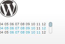 Compact Archivesとwebkit-scrollbarを使ってアーカイブをカスタマイズする